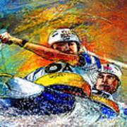 Olympics Canoe Slalom 04 Poster by Miki De Goodaboom