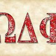 Omega Delta Phi - Parchment Poster