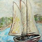On A Cloudy Day - Impressionist Art Poster