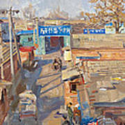 On The Backyards Of Beijing Poster by Victoria Kharchenko