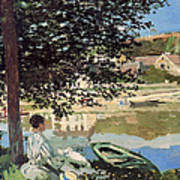 On The Bank Of The Seine Poster by Claude Monet