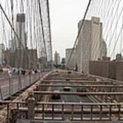 On The Brooklyn Bridge Poster