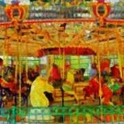 On The Carousel Poster