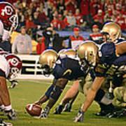 On The Goal Line - Notre Dame Vs Utah Poster
