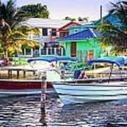 On The Waterfront Caye Caulker Belize Poster