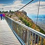 On Top Of Grandfather Mountain Mile High Bridge In Nc Poster