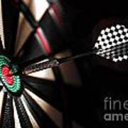 One Arrow In The Centre Of A Dart Board Poster