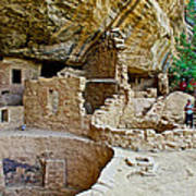 One End Of Spruce Tree House On Chapin Mesa In Mesa Verde National Park-colorado Poster