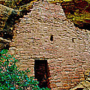 One Entry To Spruce Tree House On Chapin Mesa In Mesa Verde National Park-colorado  Poster