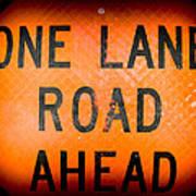 One Lane Road Poster
