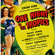 One Night In The Tropics, Us Poster Poster