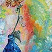 One Solitary Flower Poster by Eloise Schneider