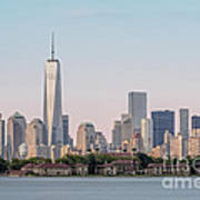 One World Trade Center And Ellis Island 2 Poster