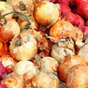 Onions Closeup Poster