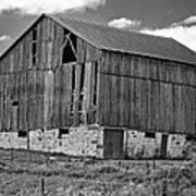 Ontario Barn Monochrome Poster