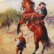 Oops          Buckaroo Western Oil Painting Poster
