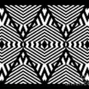 Op Art Black White Pattern Print No.336. Poster by Drinka Mercep
