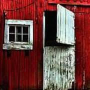 Open Barn Door Poster