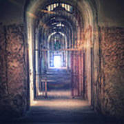 Open Gate To Prison Hallway Poster