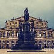 Opera House In Dresden Poster by Jelena Jovanovic