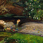 Ophelia  Poster by John Everett Millais