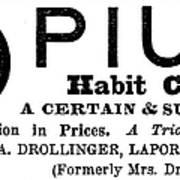 Opium Habit Cure, 1877 Poster