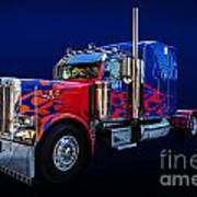 Optimus Prime Blue Poster