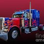 Optimus Prime Red Poster