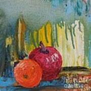 Orange and Apple - SOLD Poster