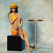 Orange And Black Poster