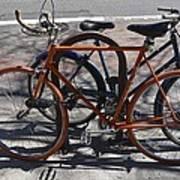 Orange And Blue Bikes Poster