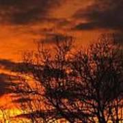 Orange And Yellow Sunset Poster