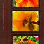Orange Bloom Motif R Poster