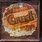 Orange Crush Sign Poster