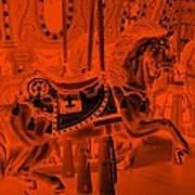 Orange Horse Poster