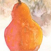 Orange Pear Poster