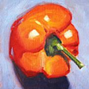 Orange Pepper Still Life Poster