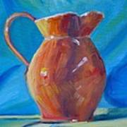 Orange Pitcher Still Life Poster