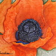 Orange Pop Watercolor Poster