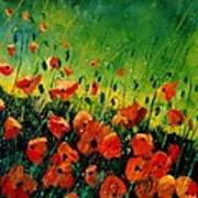 Orange Poppies  Poster