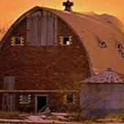 Orange Sky Barn Poster
