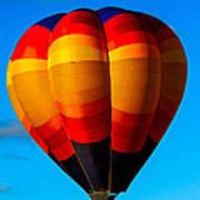 Orange Stipped Hot Air Balloon Poster