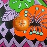 orange Sunshine Poster by Shelley Laffal
