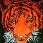 Orange Tiger Poster