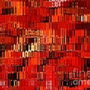 Orange Under Glass Abstract Poster