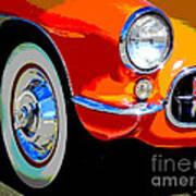 Orange Vette Poster