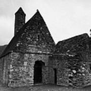 Oratory Known As St Kevins Kitchen Glendalough Monastery County Wicklow Republic Of Ireland Poster