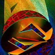 Orbiting Circle Spinning Square Poster