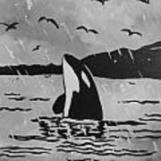 Orca Free And Happy Poster
