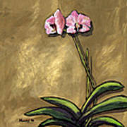 Orchid On Khaki Poster